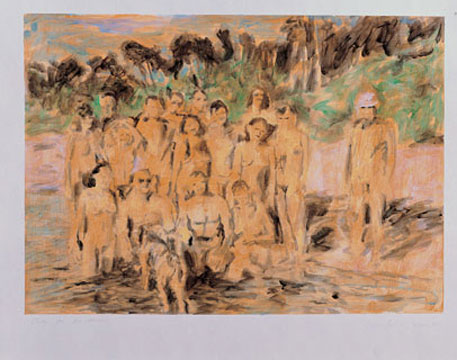 Au naturel study 1, 2006, acrylic on paper, 42 x 59 cm