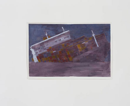 Sinking Line, 2009, acrylic on paper , .