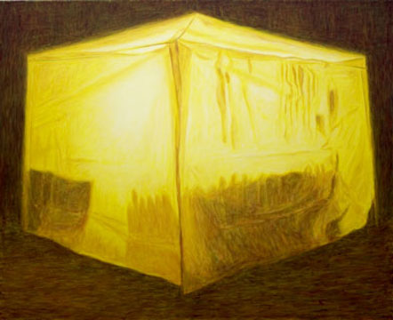 Tent, 2009, oil on canvas,