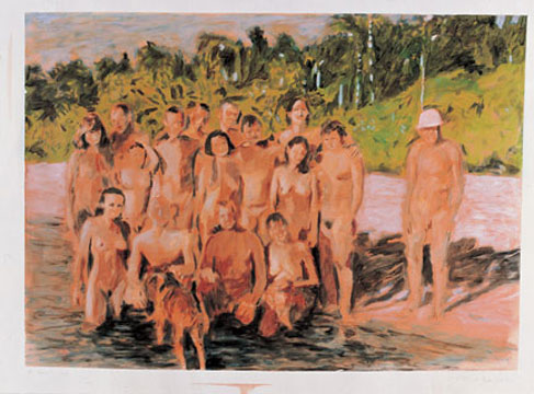 Au naturel study, 2006, acrylic on paper, 56 x 76 cm