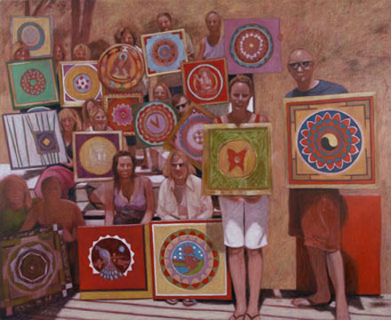 Painting Lesson, 2007, oil on canvas, 170 x 190 cm