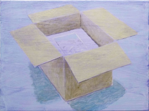 Box, 2009, oil on canvas, 56 x 76 cm