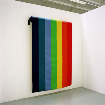 Twenty Five Meters of Piece, 2005, acrylic on canvas and iron, Variable dimensions