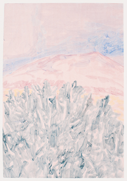Cactus, Mountain and a Cloud, 2011, Acrylic on paper, 41,5 x 29,5 cm