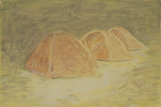 Three Tents, 2011, Oil on canvas, 50 x 75 cm