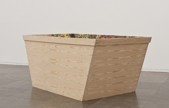 Skip (leftovers), 2012, Acrylic and oil on wood, 100 x 233 x 124 cm