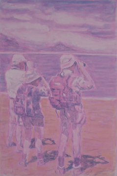 Three Figures, 2011, Oil on canvas, 150 x 100 cm